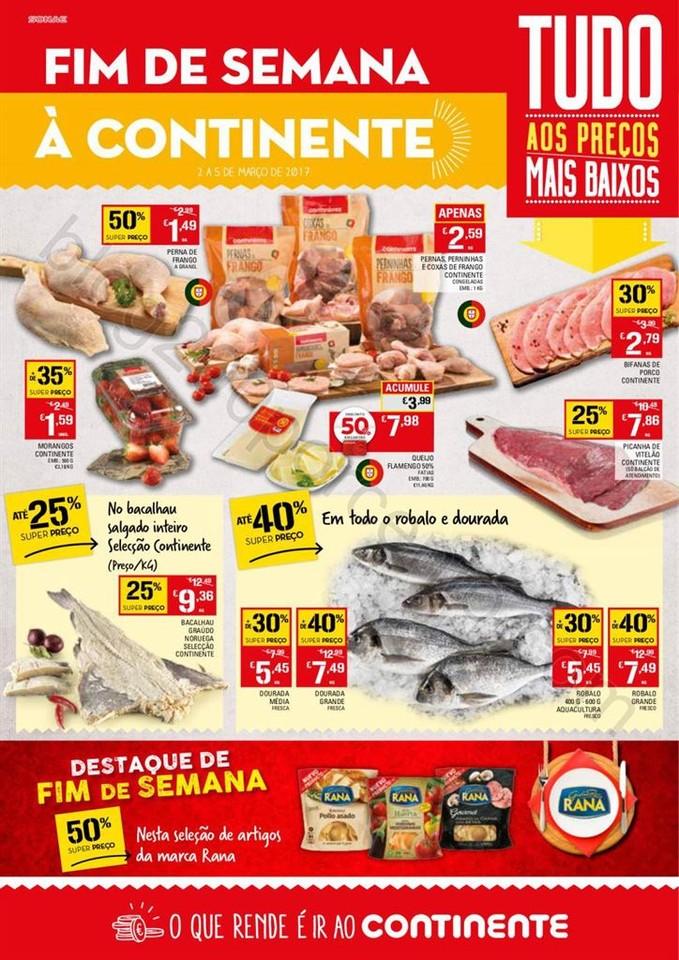 Antevisão Folheto CONTINENTE Fim de semana de 2 a