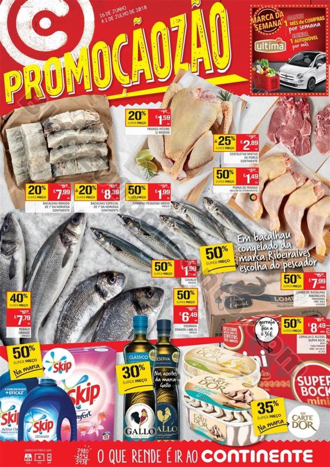 Antevisão Folheto Continente Promoçãozão 26 ju