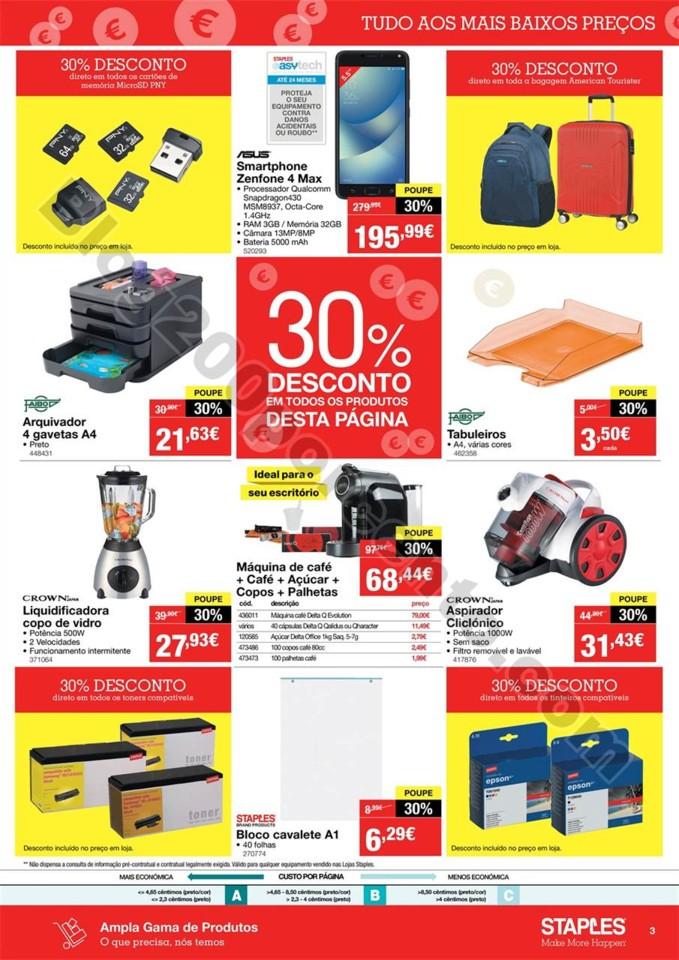 Antevisão Folheto STAPLES Promoções de 16 a 22