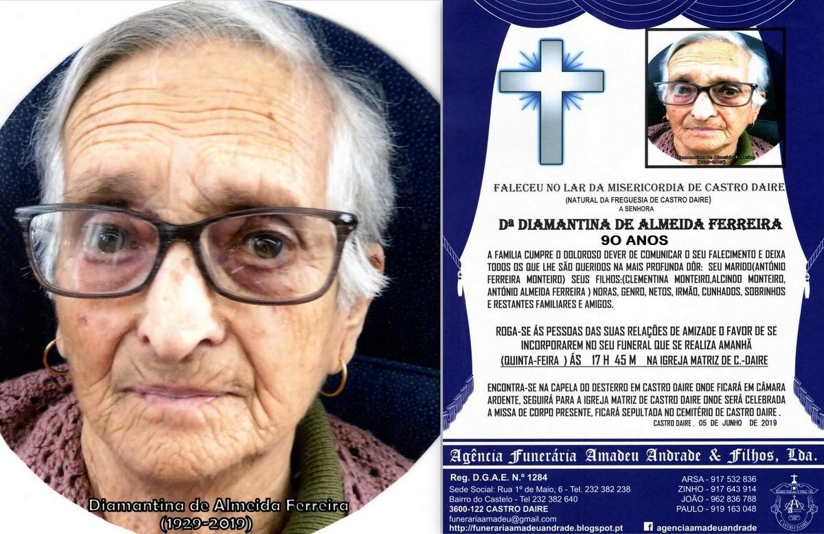 FOTO RIP DE DIAMANTINA DE ALMEIDA FERREIRA -90 ANO