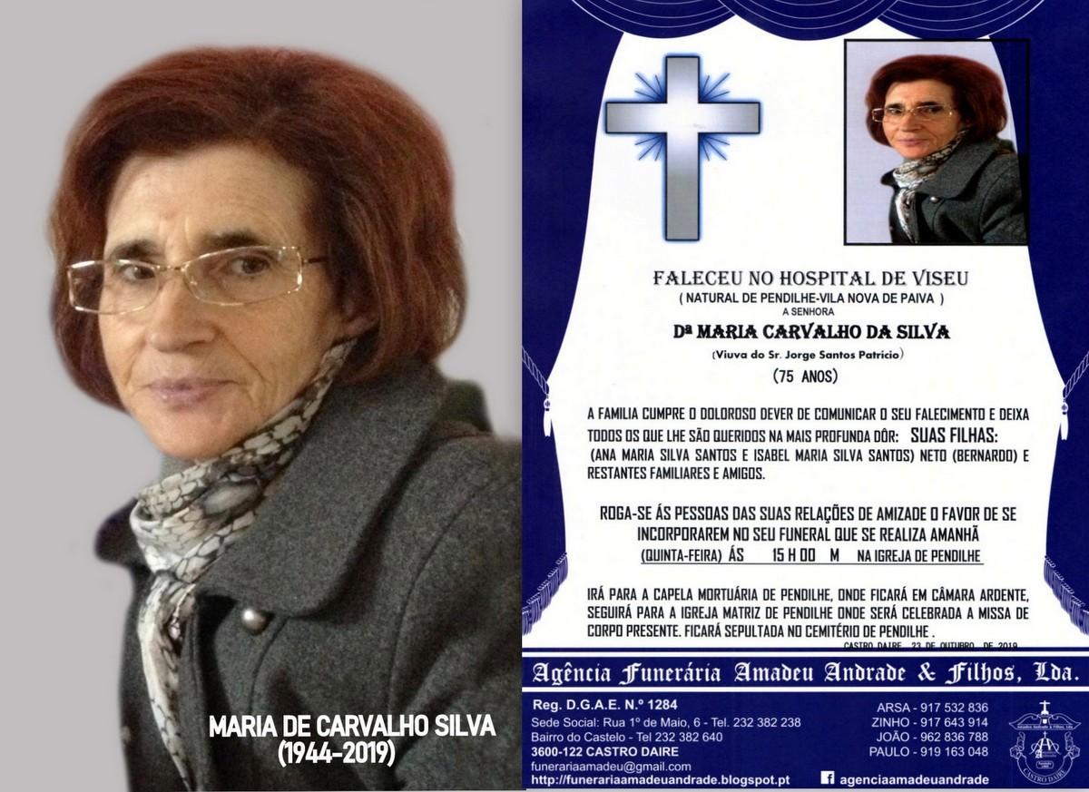 RIP-FOTO DE MARIA CARVALHO DA SILVA-75 ANOS (PENDI