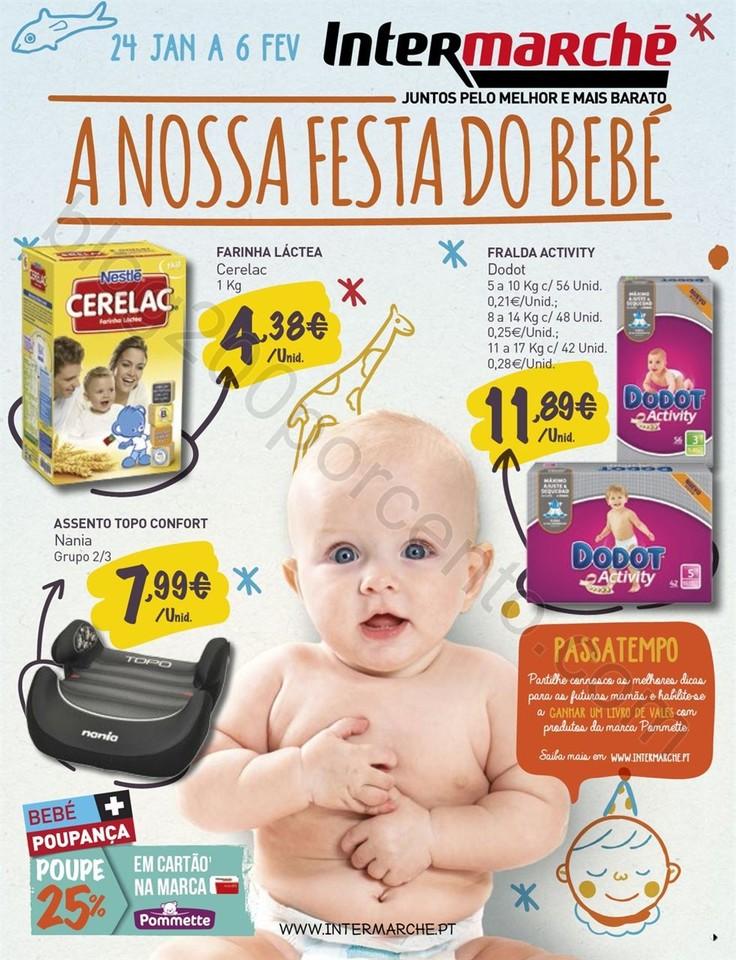 Antevisão Folheto INTERMARCHÉ Bebé de 24 janeir