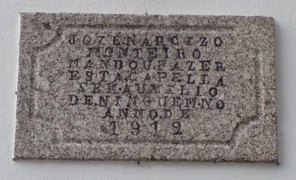 Placa Capela Angustias 1912