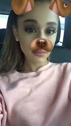 Ariana Grande on Snapchat