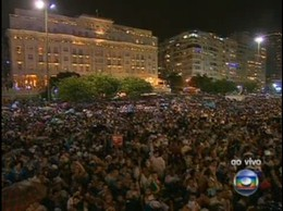 Revéillon 2012 Copacabana - Multidão participa d
