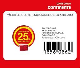 Cupão CTT Continente Brinquedos 25%