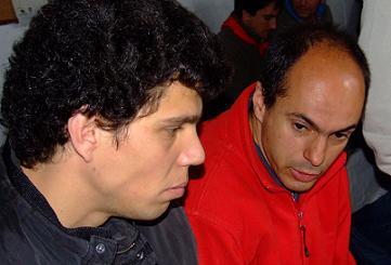 O cavaleiro Tiago Pamplona e o bandarilheiro Jorge Silva...