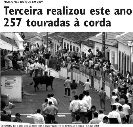 Balanço indica 257 touradas à corda em 2010...