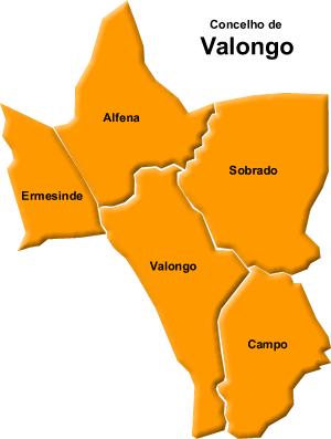 ermesinde mapa ALFENA E O
