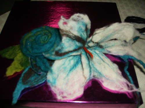 flor- feltragem com agua e sabão