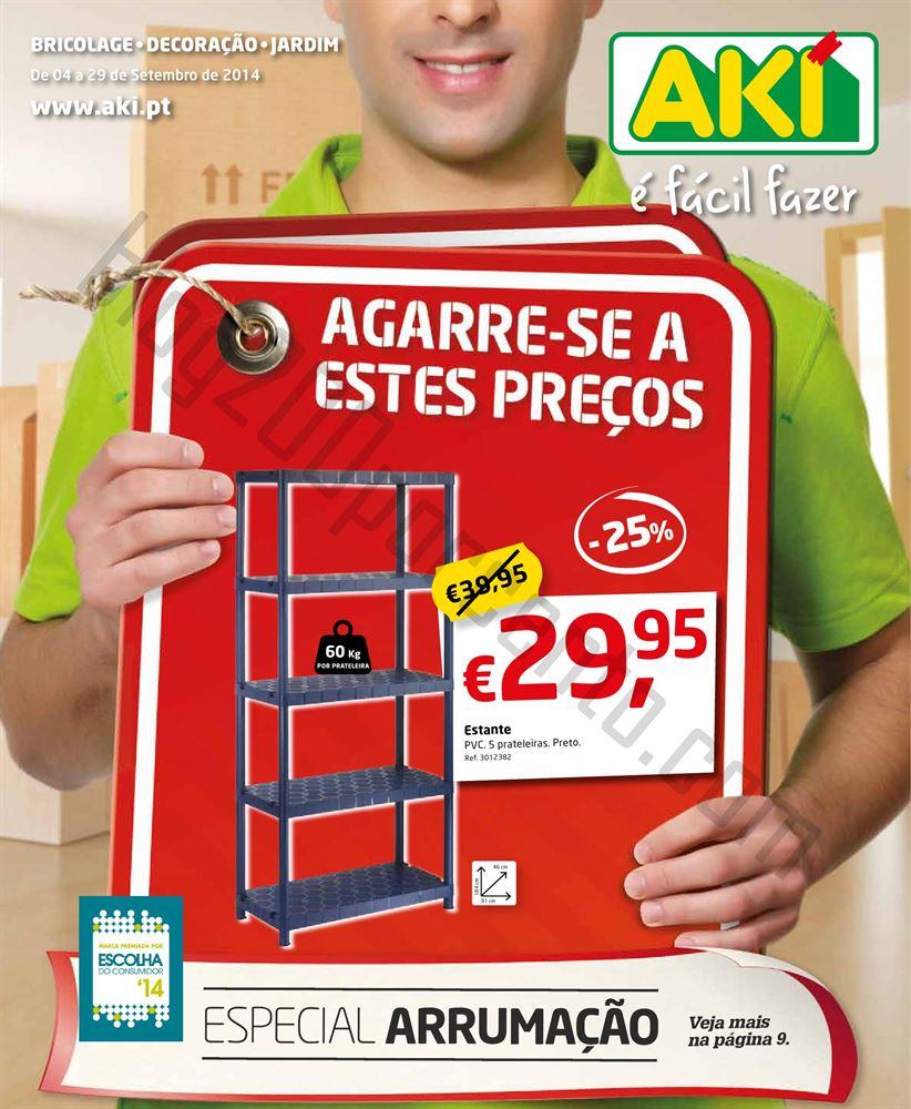 Novo Folheto AKI de 4 a 29 setembro - especial Arrumação