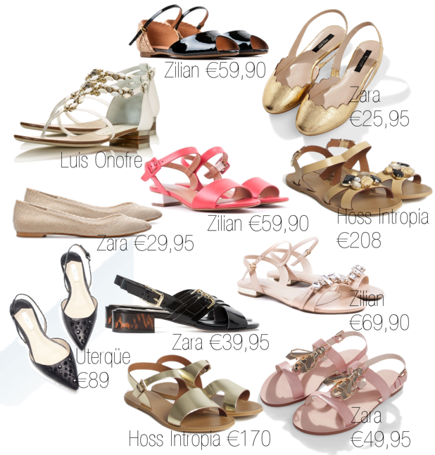 Sapatos rasos para casamento mini saia