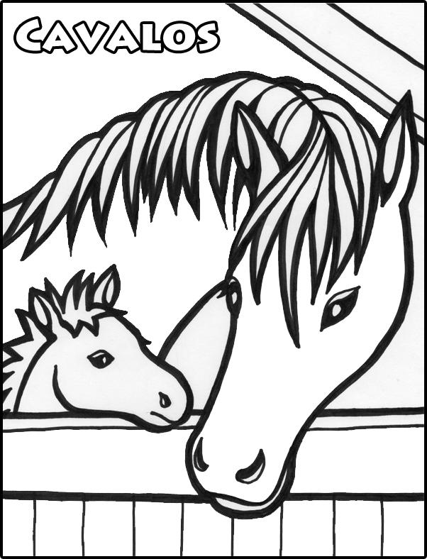 Desenhos De Cavalos Para Colorir Pintar Animais E Imprimar