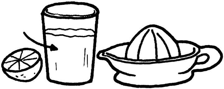 Dibujo De Jugo Para Colorear: Espremedor De Sumo Para Colorir