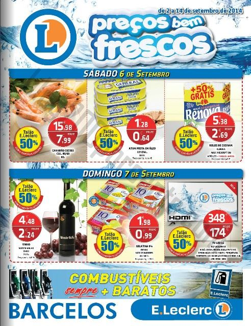 Novo Folheto E-LECLERC Barcelos de 2 a 14 setembro