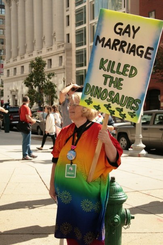 «Gay marriage killed the dinosaurs»