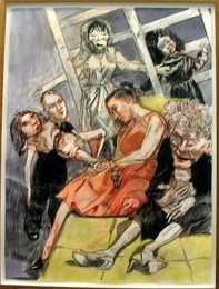 Human Cargo, pormenor de tríptico de Paula Rego